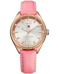 Tommy Hilfiger Women'S Pink Leather Strap Watch 36Mm 1781516 - Lyst