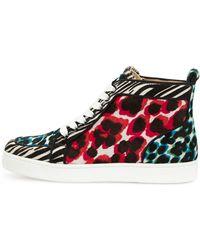 Christian Louboutin Rantus Orlato Animalprint Hightop Sneaker Multi - Lyst