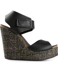 Pedro Garcia Contrast Wedge Sandals - Lyst