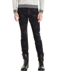 J Brand Tyler Resin Coated Jean Blue Black - Lyst
