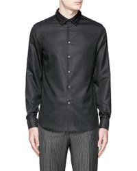 Alexander McQueen | Ruffle Collar Piqué Shirt | Lyst