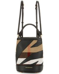 Burberry Prorsum - Leather-trimmed Check Backpack - Lyst