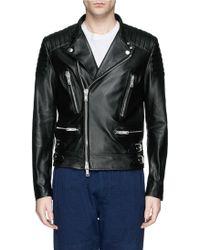 Covert Leather Biker Jacket - Lyst