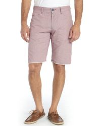 Howe Red Cotton Blend Reversible Hands Down Yd Mini Check Shorts - Lyst