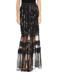 Alice By Temperley Misty Maxi Skirt Black - Lyst