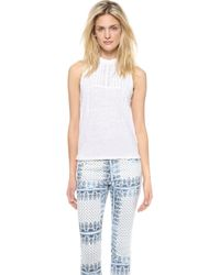 Joe's Jeans - Embroidered Linen Kate Tank - White - Lyst