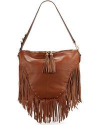 Dolce Vita Fringed Tote Bag brown - Lyst