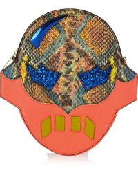 Stella McCartney Superhero Snake-effect Faux Leather Shoulder Bag - Lyst