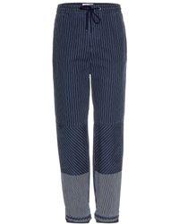 Chloé Wide Leg Denim Trousers - Lyst