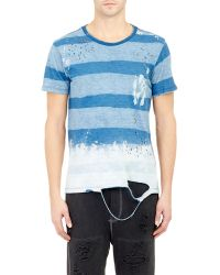 Bliss and Mischief - Block Stripe Distressed T-Shirt - Lyst