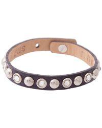 Bungalow 20 | Purple Leather Bracelet With Silver Swarovski Studs | Lyst