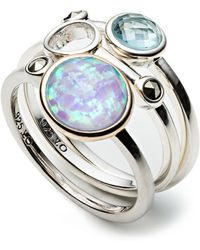 Judith Jack - Caribbean Breeze Opal And Sterling Silver Ring Set - 3 - Lyst