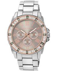 Vince Camuto - Ladies Stainless Steel And Swarovski Crystal Baguette Bracelet Watch - Lyst