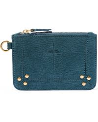 Jérôme Dreyfuss - Turquoise Small Lambskin Pouch - Lyst