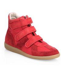 Maison Margiela Triple-Strap Suede High-Top Sneakers - Lyst