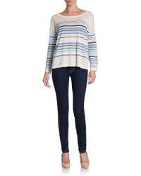 Joie Maine Striped Linen Top - Lyst