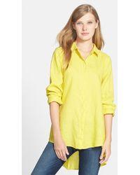 Eileen Fisher Classic Collar Organic Linen Shirt - Lyst