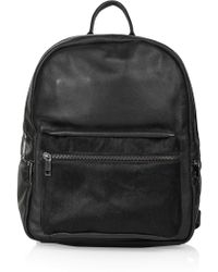 Topshop Luxe Leather and Pony Backpack - Lyst
