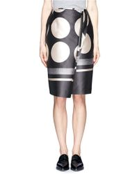 Stella McCartney Zip Wrap Front Polka Dot Skirt - Lyst