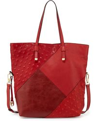 Halston Heritage City Casual Patchwork Tote Bag - Lyst