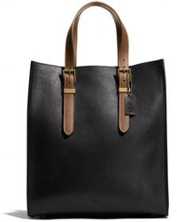 Coach Mercer Drafter Tote In Leather - Lyst