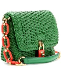 Dolce & Gabbana Woven Shoulder Bag with Leather - Lyst