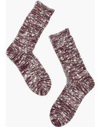 Madewell Anonymous Ism Slub Trouser Socks - Lyst