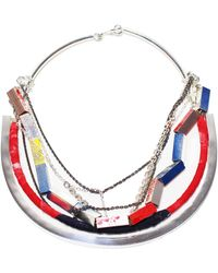 Alyssa Norton Shapes And Chains Necklace - Lyst