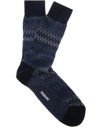 Missoni Chevronintarsia Knit Socks - Lyst