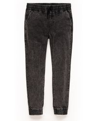 Forever 21 - Stone Washed Denim Joggers - Lyst