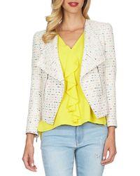 Cece by Cynthia Steffe | Tweed Asymmetrical Jacket | Lyst
