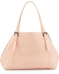 Bottega Veneta A-Shaped Medium Tote Bag pink - Lyst