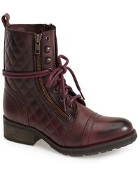 Steve Madden Women'S 'Yanki' Quilted Leather Mid Boot - Lyst