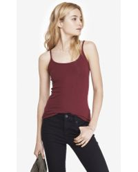 Express Strappy Basic Ribbed Cami - Lyst