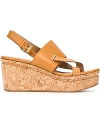 Scanlan Theodore - Cross Front Wedge Sandals - Lyst