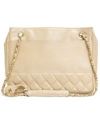Chanel Vintage Lambskin Quilted Shoulder Bag - Lyst