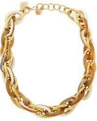 Ashley Pittman Ndovu Light Horn  Bronze Necklace - Lyst