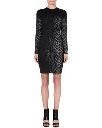 Christopher Kane Fitted Snake-print Dress - Lyst
