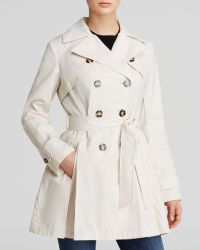 Laundry by Shelli Segal - Coat - Double-breasted Button Front Trench - Lyst