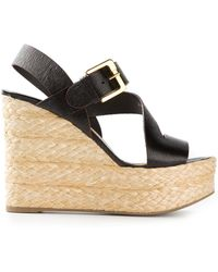 Sergio Rossi Platform Wedge Sandals - Lyst