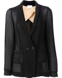 Forte Forte Striped Sheer Blazer - Lyst