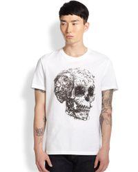 Alexander McQueen Skull Print Tee - Lyst