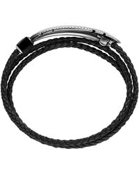 David Yurman Frontier Feather Triple-Wrap Bracelet In Black With Black Onyx - Lyst