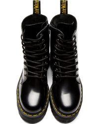 Dr. Martens Black Polished Leather Jadon 8_eye Boots - Lyst