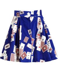 Olympia Le-Tan Playing Cards Mini Skirt - Lyst
