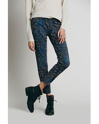 Free People Decadent Flocked Skinny - Lyst