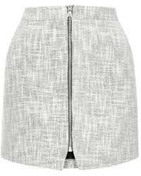 Topshop Boucle Zip Pelmet Skirt - Lyst