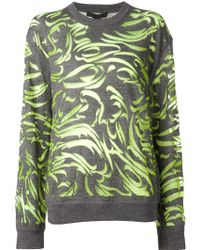 Alexander Wang Paisley Burnout Pullover Sweater - Lyst