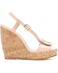 Roger Vivier Leather Wedge Sandals - Lyst
