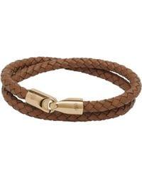 Mulberry Double Wrap Tubular Bracelet brown - Lyst